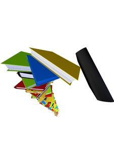 Free 3d Books Royalty Free Stock Photography - 1310177