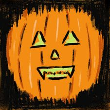 Free Vector Pumpkin Background Wall Royalty Free Stock Image - 1310376