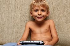 Free Boy With Video Game Stock Images - 1310594