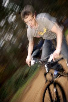 Free Mountain Bikeing Stock Image - 1312171