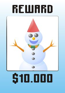 Snowman Wanted Royalty Free Stock Images