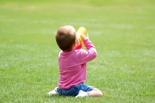 Free Baby On Grass Royalty Free Stock Photos - 1312738