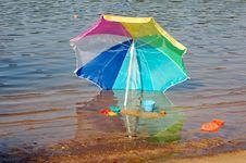 Free New Beach Umbrella Stock Photos - 1312843