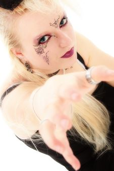 Free Beautiful Goth German Teen Girl Royalty Free Stock Photography - 1312857