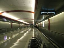Airport Walkway Stock Images