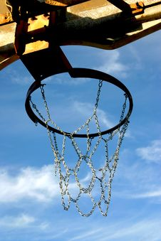 Free Lookin Up The Hoop Stock Photos - 1313343