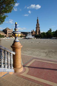 Free Plaza De Espana Royalty Free Stock Photo - 1313395