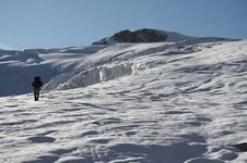 The Climb In The Cordillera Blanca_1 Royalty Free Stock Photography