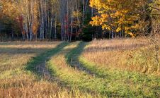 Free Road Across A Field Royalty Free Stock Photos - 1314318