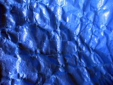 Free Wrinkled Blue Tarpaulin Stock Images - 1315094