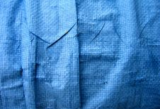 Free Wrinkled Blue Tarpaulin Stock Photography - 1315112