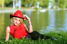 Free Sexy Blonde Cowgirl Royalty Free Stock Photos - 1315768