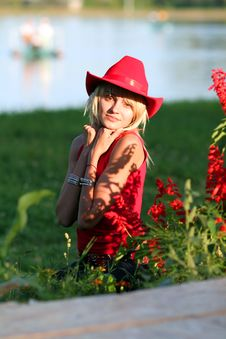 Free Sexy Blonde Cowgirl Royalty Free Stock Photography - 1315777