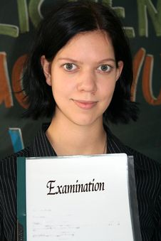 Free Young Woman With Examination Stock Photography - 1315822