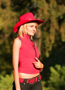 Free Sexy Blonde Cowgirl Stock Photos - 1315893