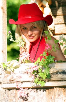 Free Sexy Blonde Cowgirl Stock Photo - 1315980
