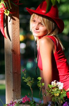 Free Sexy Blonde Cowgirl Royalty Free Stock Image - 1316006