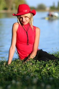 Free Sexy Blonde Cowgirl Royalty Free Stock Photos - 1316078