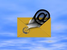 To You The Letter For Sky Royalty Free Stock Image