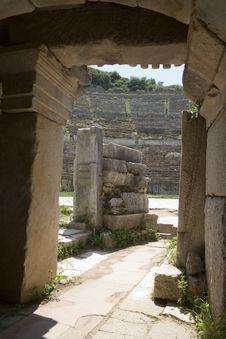 Big Amphitheatre In Efes Stock Images