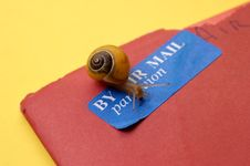 Free Concept - Snail Mail Stock Image - 1317951