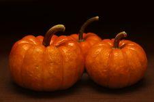 Fall - Three Pumpkins Royalty Free Stock Images