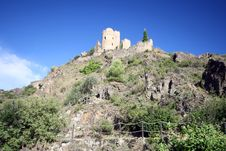 Free Fortified Castle Ruins Royalty Free Stock Photo - 1318115
