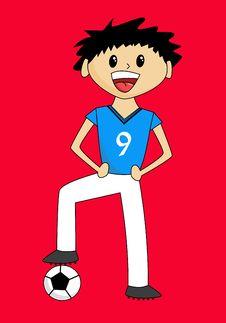 Cute Soccer Boy Stock Photos