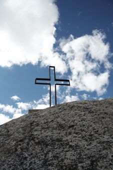 Cross On The Stone Royalty Free Stock Photography