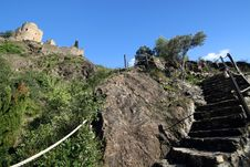 Free Steep Steps To Castle Royalty Free Stock Image - 1319386