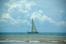 Free Boat At Sea Royalty Free Stock Photos - 1319718