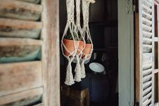 Free Three Hanging Pots Royalty Free Stock Images - 131017009