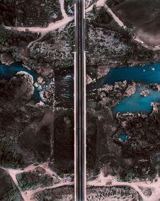 Free Aerial Photography Of Bridge Stock Image - 131017051