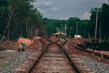Free Brown Metal Train Railway Royalty Free Stock Image - 131017076