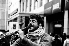 Free Grayscale Photography Of Man Playing Clarinet Royalty Free Stock Photography - 131017417
