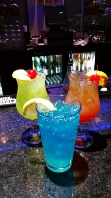 Free Drink, Blue Hawaii, Cocktail, Alcoholic Beverage Royalty Free Stock Image - 131082236