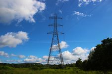 Free Sky, Transmission Tower, Electricity, Overhead Power Line Stock Images - 131082944