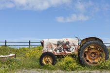 Free Field, Tractor, Agricultural Machinery, Vehicle Stock Photo - 131083280