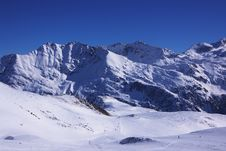 Ski Resort Winter View Royalty Free Stock Images