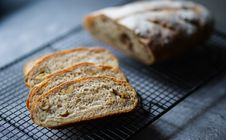 Free Photo Of Baked Bread On Black Metal Tray Royalty Free Stock Image - 131109076