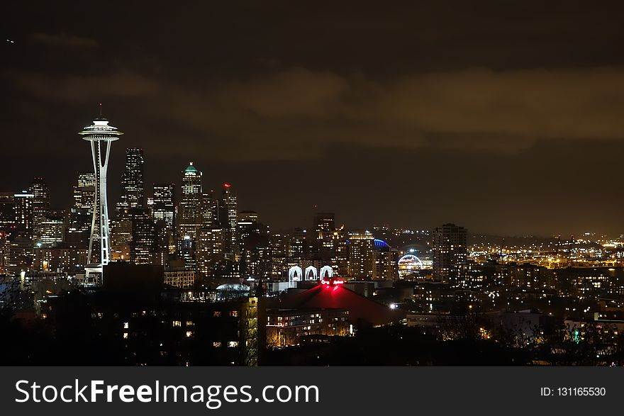Cityscape, City, Skyline, Night