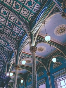 Free Photograph Of Multicolored Ceiling Stock Image - 131201201