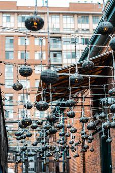 Free Black String Lanterns Outdoors Stock Photos - 131330163