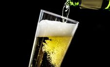 Free Beer Pouring Into Glass Cup Stock Images - 131422894
