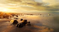 Free Photo Of Rocky Shore During Dusk Stock Photo - 131423240