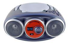 Isolated Blue Radio Device Stock Image