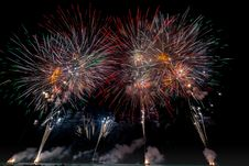 Free Multicolored Fireworks On Night Sky Stock Images - 131613274