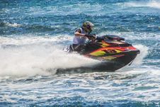 Free Jet Ski, Personal Water Craft, Water Transportation, Boating Stock Image - 131670981