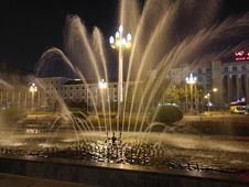 Free Fountain, Water, Water Feature, Night Stock Photo - 131684170
