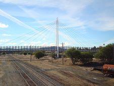 Free Bridge, Cable Stayed Bridge, Track, Transport Royalty Free Stock Image - 131684366